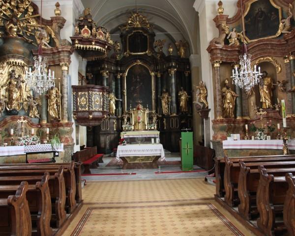 Pfarrkirche BW von Innen