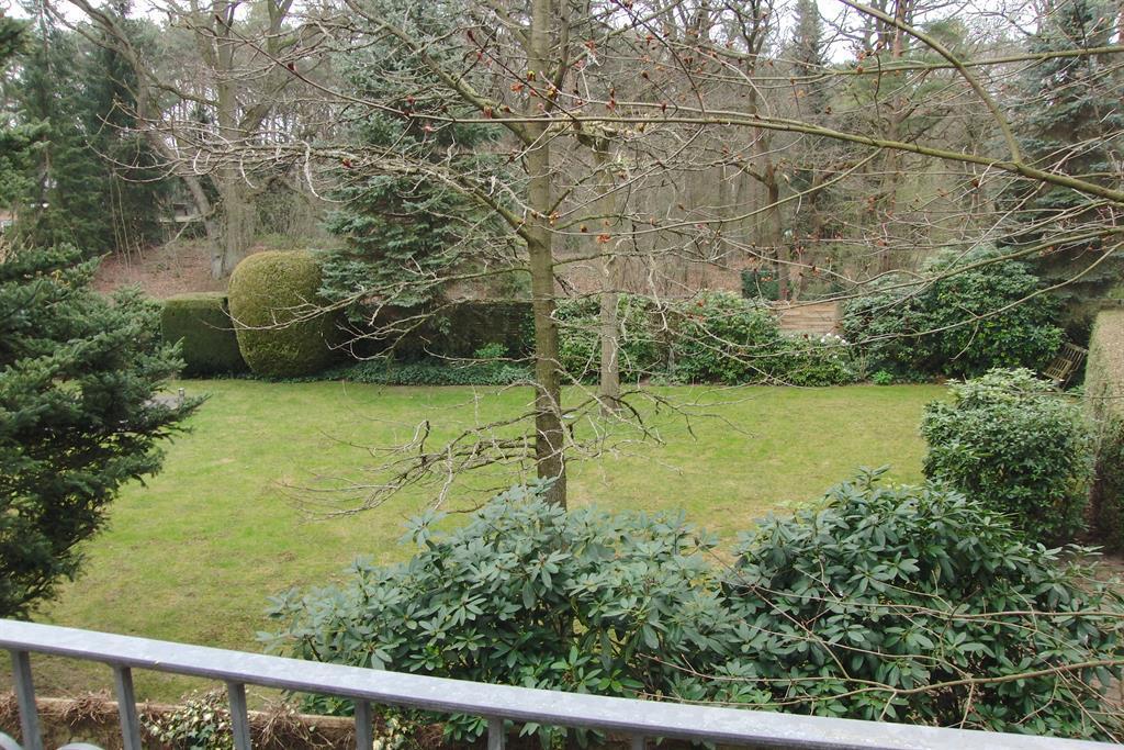 Blick vom Balkon in Nachbars Garten