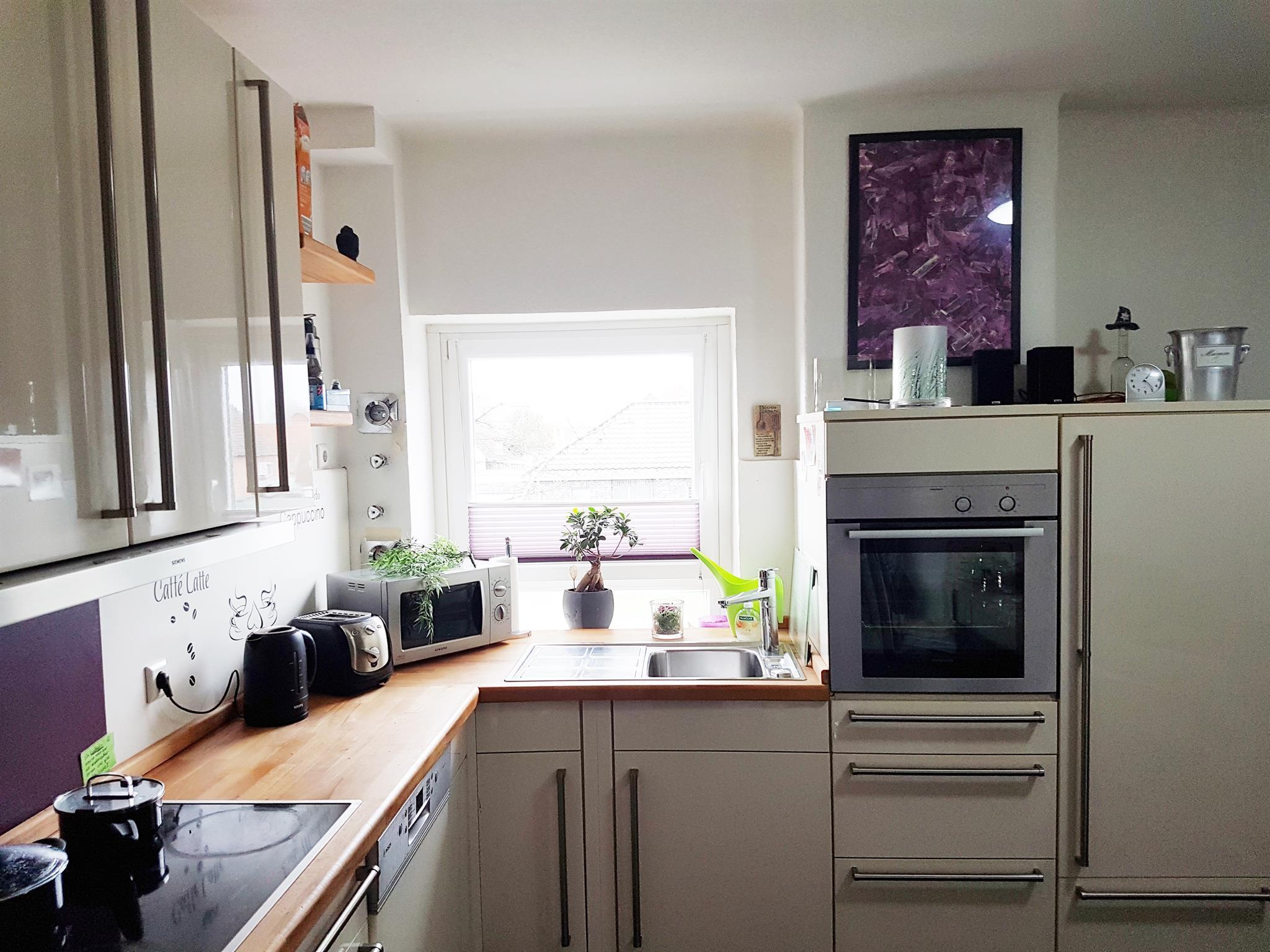 Küche mit allein Einbaugeräten