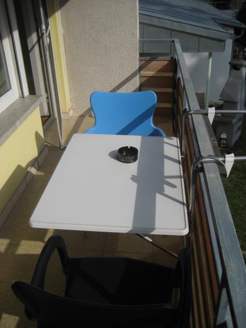 Balkon Wohnung 1 Doppelzimmer 2