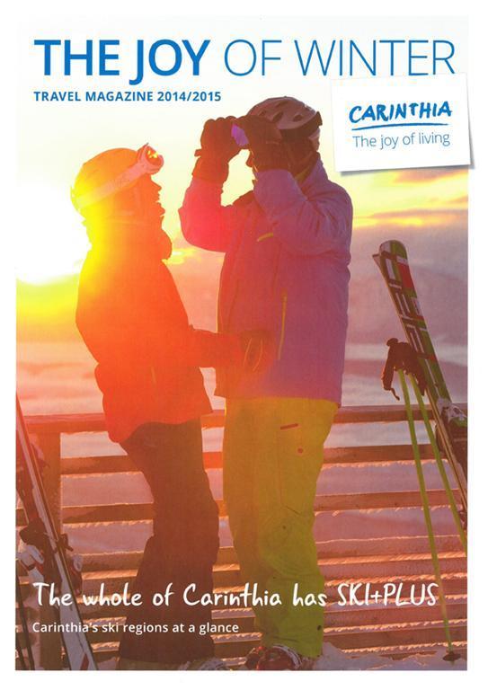The joy of winter. Travel magazine.(© Kärnten Werbung)