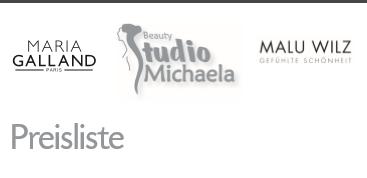 Preisliste Beautystudio Michaela