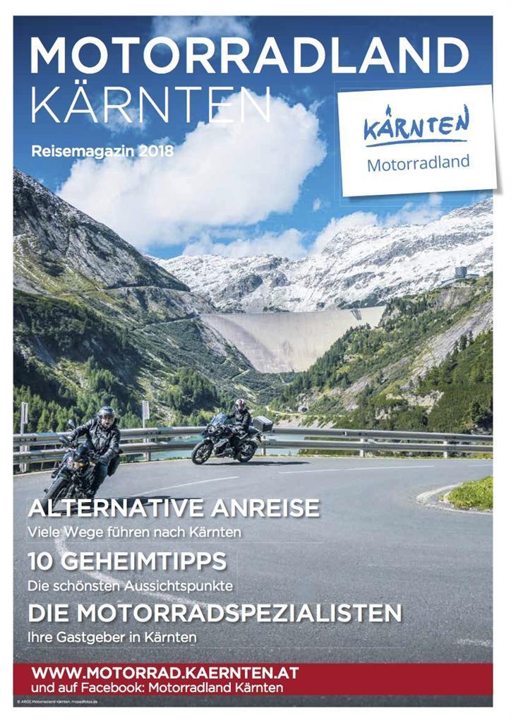 Motorradland Kärnten Reisemagazin 2018(© ARGE Motorradland Kärnten)