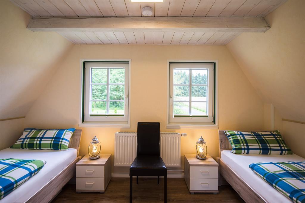 Heide-Chalet Zweibettzimmer