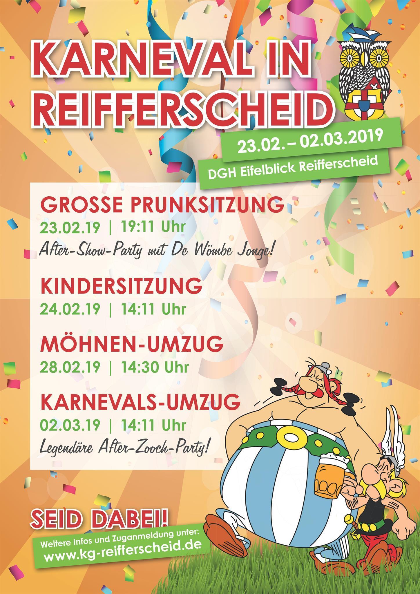 Plakat, @ KG Blau-Weiß Reifferscheid e. V.