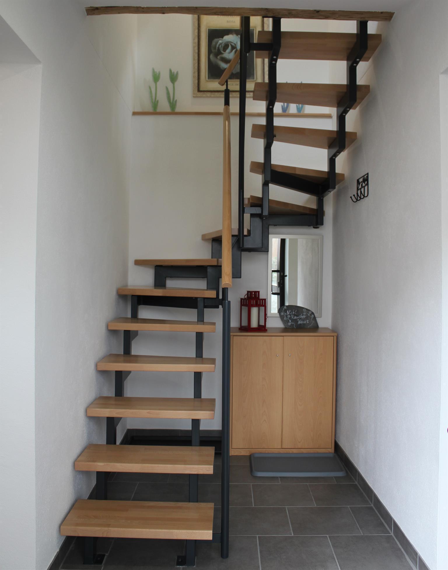 Treppenaufgang zum 1. Stockwerk