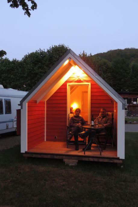 Hütte beleuchtet