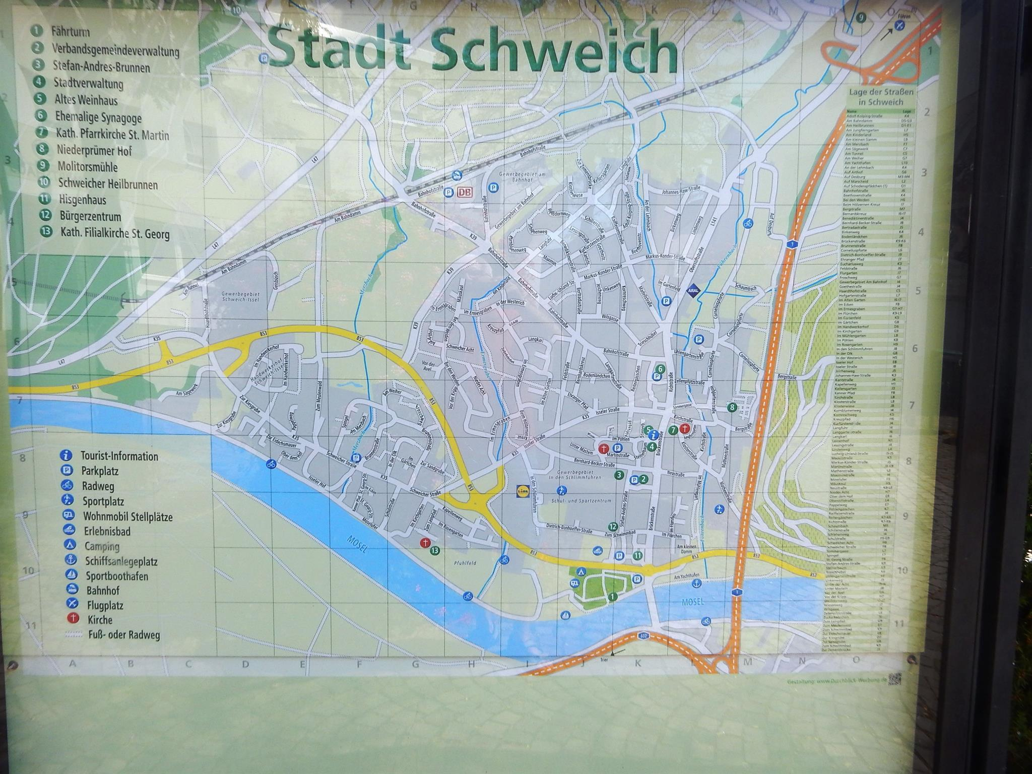 Stadtkarte Schweich