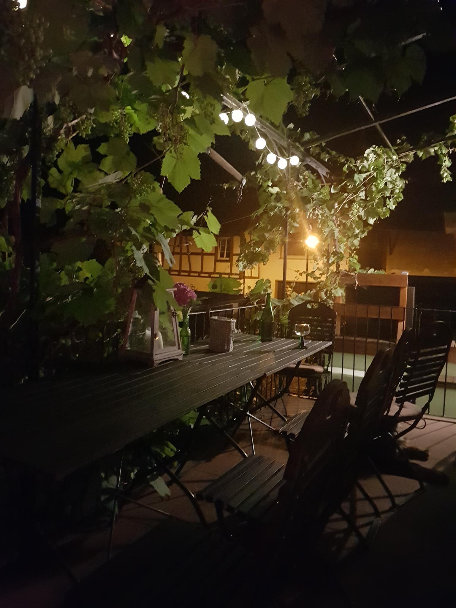 Innenhof abends