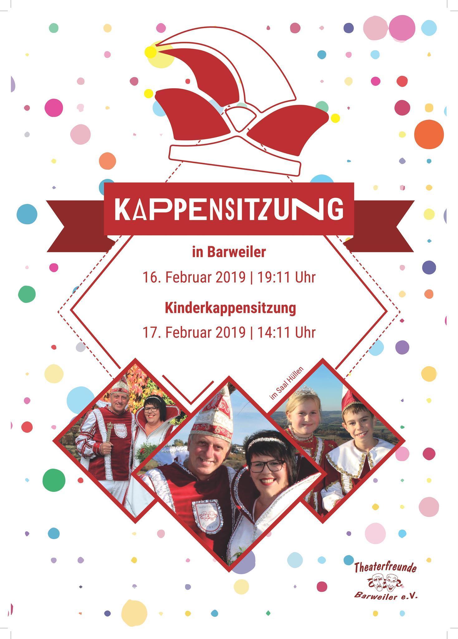 Plakat Kappensitzung, @ Theaterfreunde Barweiler e. V.