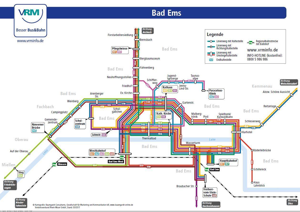 Liniennetz Bad Ems