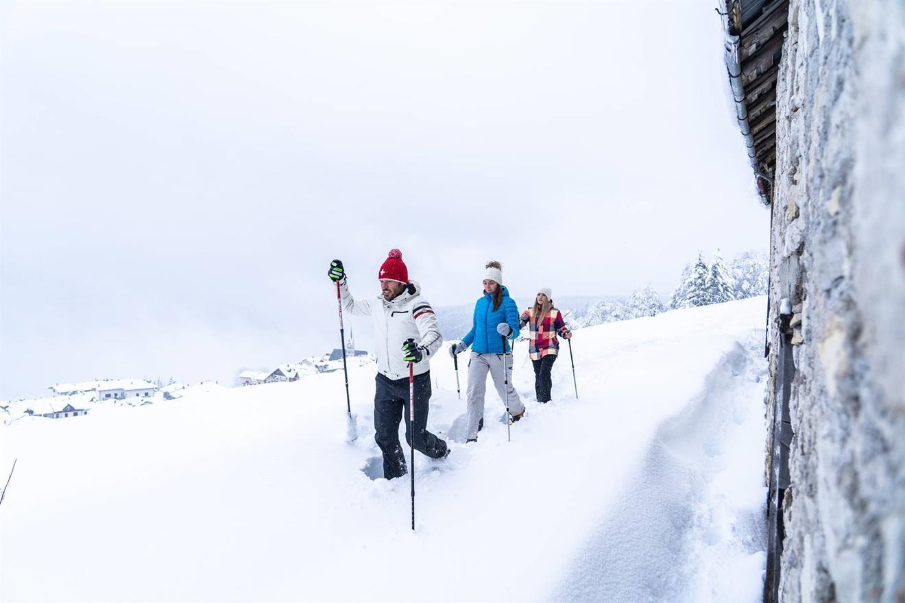 Ciaspolando sull'Alpe