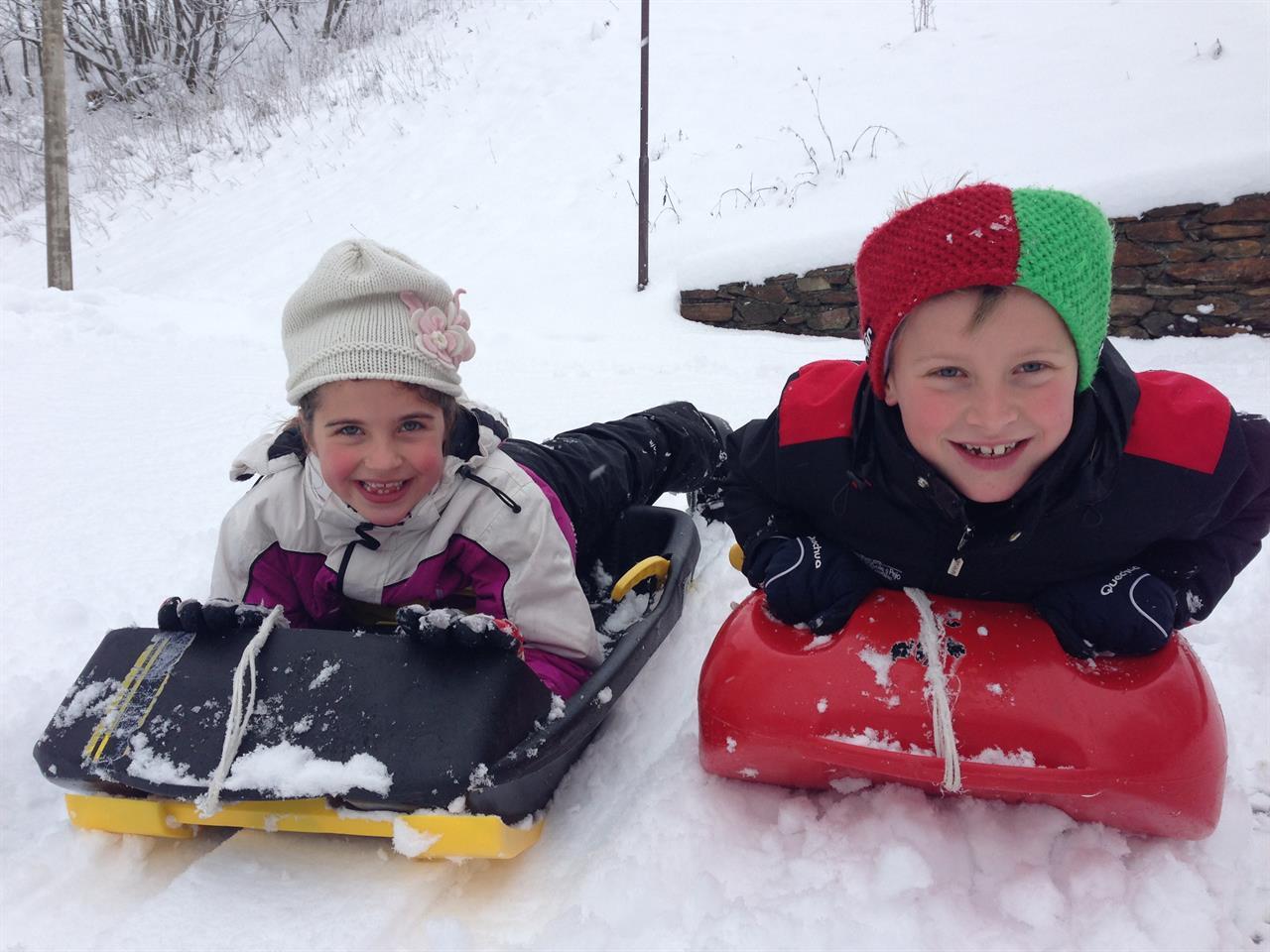 Bambini nella neve