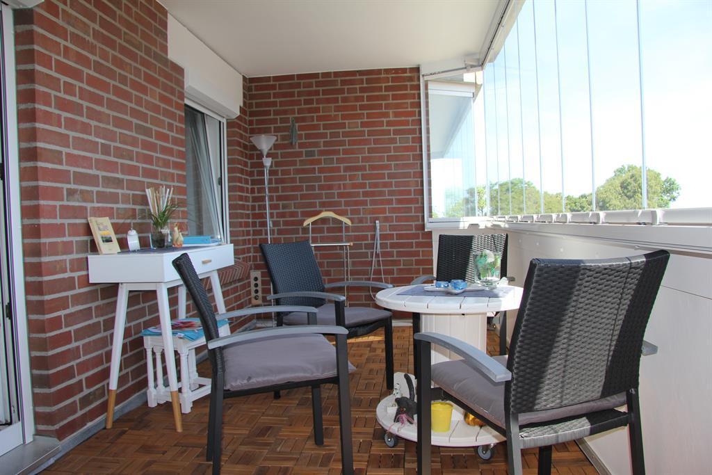 Verglaster Balkon kann geöffnet werden