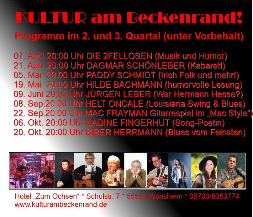Flyer Kultur am Beckenrand