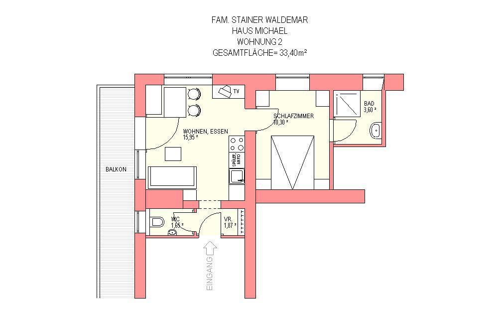 Appartement de vacances Waldemar Stainer, Haus Michael Apartment Mini =  1 Schlafraum/Bad, WC (1916625), Lofer, Pinzgau, Salzbourg, Autriche, image 20