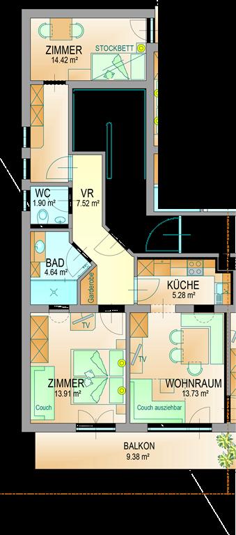 Appartement de vacances Unterschlag, Alpenpension Appartement Tennengebirge/Fewo, 2 Schlafräume (1915983), Annaberg, Tennengau, Salzbourg, Autriche, image 24
