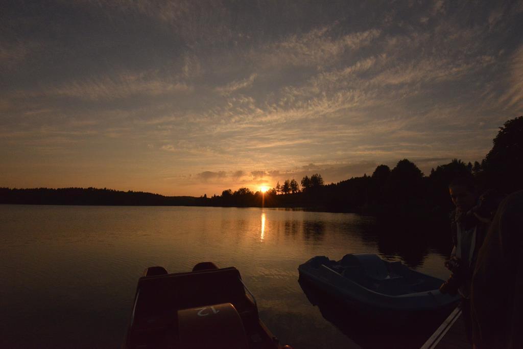Sonnenuntergang am Losheimer Stausee