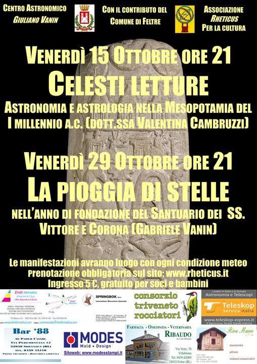Ottobre con l'associazione  Rheticus