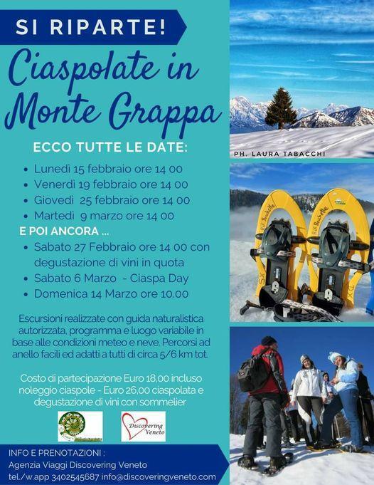 Ciaspolate in Monte Grappa