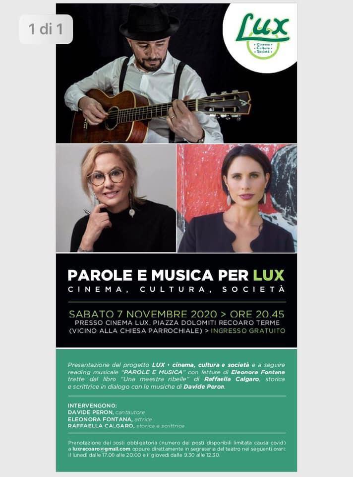 Parole e musica per Lux
