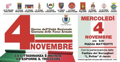 4 novembre. Giorno dell'Unità Nazionale e delle Forze Armate