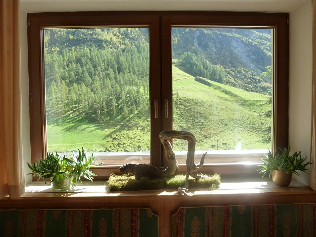 Blick aus dem Frühstücksraum