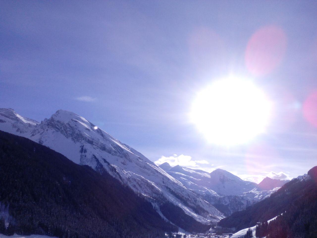 Blick Hintertuxer Gletscher