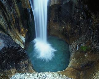 Gletschermühle beim Wasserfallweg
